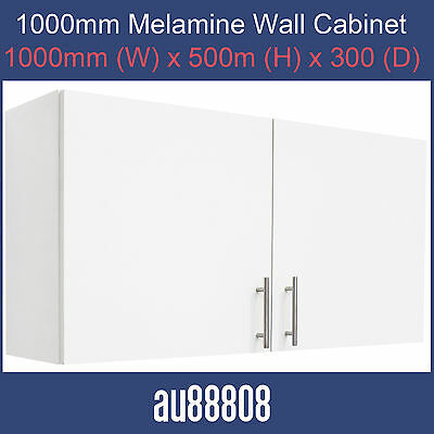 NEW WHITE MARQUEE 1000mm WALL CABINET 1000mm LAUNDRY GARAGE COMPLETE STORAGE