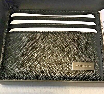 Michael Kors Andy Unisex Credit Business Card Case Id Holder Saffiano Leather