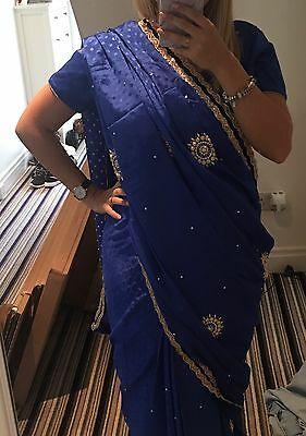 Stunning Royal blue Saree. Only worn once