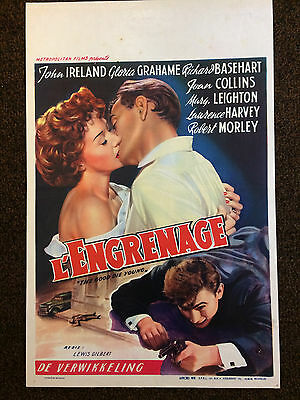 JOAN COLLINS - LAURENCE HARVEY - Original Vintage BELGIAN FILM POSTER 1954