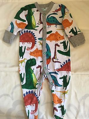 Baby Boys Next Dinosaur Baby Grow Age Up To 3 Months