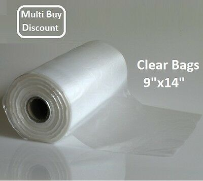 Clear Bags on a Roll food bags Polythene Bags for Fruit Vegetable Food Meat