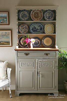 Vintage Farmhouse Oak Dresser Painted in Farrow & Ball
