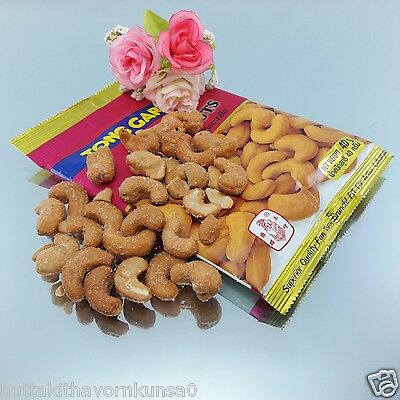 6 Pcs.x 40 G. Salted Cashew Nuts Healthy Food Delicious With Beer High Quality F