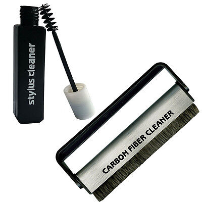 Stylus Cleaning Solution and Vinyl Record Carbon Fibre Brush from Acc-sees