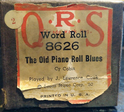 QRS Word Roll Player Piano The Old Piano Roll Blues 8626