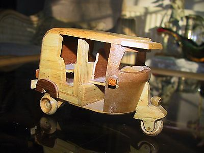 Collectable wooden Indian rickshaw