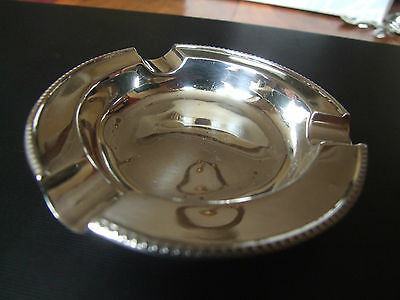 Hallmarked Silver Ashtray, Walker & Hall, Sheffield, 1954.  9.4cm diameter