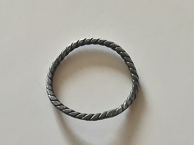 Viking Ancient Silver Twisted Ring Artifact  700-800 AD