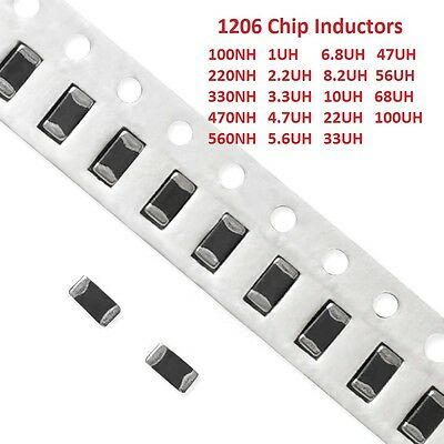 1206 SMD SMT Chip Inductors Range 100NH to 100UH Free Shipping