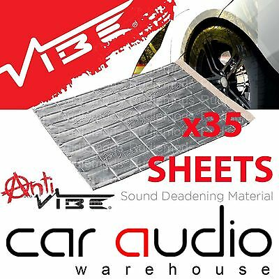 VIBE 35 Sheets 2.5mm 375 x 265mm Car Boot Sound Proofing Deadening Material Mat