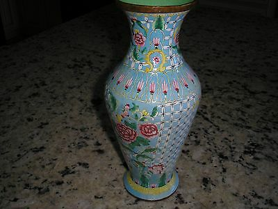 Antique Chinese Canton enamel vase-stunning and quite well painted