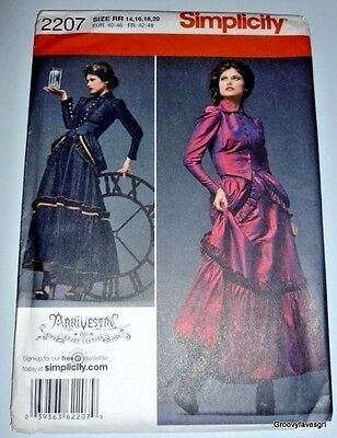 SteamPunk Victorian Bustle Edwardian Gothic Dress Sewing Pattern 14,16,18,20