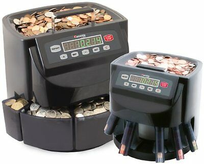Coin Sorter Counter Wrapper Digital Counting Machine LED Display Large Bin NEW!