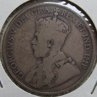 Canada, Newfoundland, 1911 Silver Fifty Cents 50c, George V