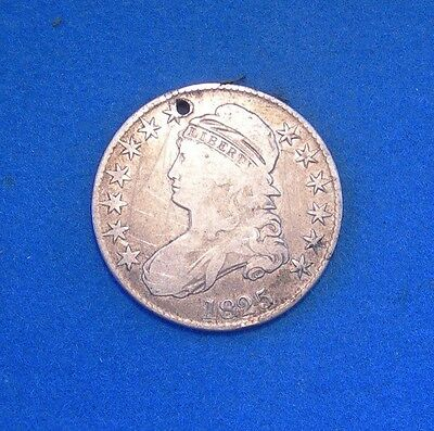 Bargain 1825 Capped Bust Half Dollar  Fine condition 50c silver coin