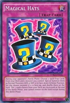 3 x Magical Hats (LDK2-ENY36) - Common - Near Mint - 1st Edition