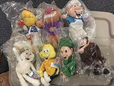 General Mills Breakfast Pals 1997-98 Set Of 7 Plush Pals NIP