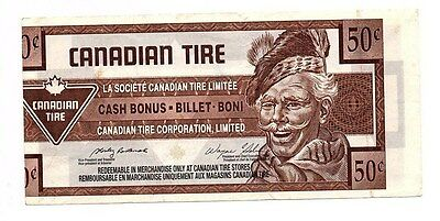 2003 50c CTC CANADIAN TIRE MONEY NOTE coupon very Rare Cut off center 3015140932