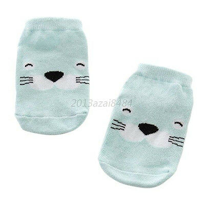 Ears Infant Socks Cotton Socks Cartoon Socks Boys Girls Green Ducks 0-1Y