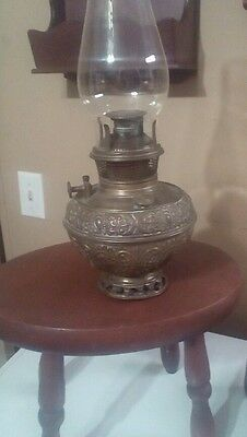 Bradley and Hubbard kerosene brass lamp