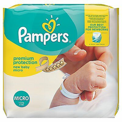 Pampers Premium Protection New Baby Nappies - Size 0, Pack of 144