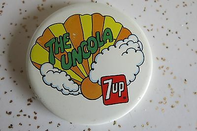 The Uncola Peter Max Style 7up Soda Pinback Button Psychedelic 70's