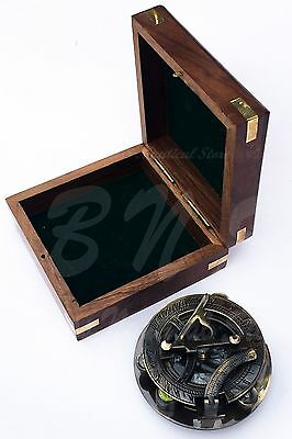Maritime~Antique~West~London~Vintage~Brass~Sundial~Compass~Nautical~Decor W/ Box