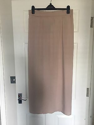 New Look Maternity Maxi Skirt Size 12 Nude Pink