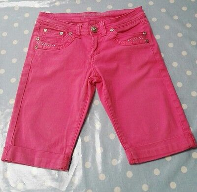 Girls age 12 pink canvas shorts Generation 915 NEW LOOK good condition