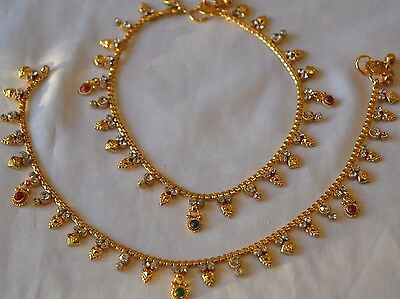 Style6 QUALITY Gold Plated Playal Anklet Ankle Chain Indian Bollywood Jewellery