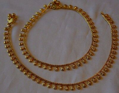 Style7 QUALITY Gold Plated Playal Anklet Ankle Chain Indian Bollywood Jewellery