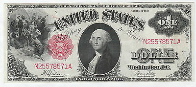Circulated 1917 $1 United States Note--Fr. 39, Speelman/White, Ungraded