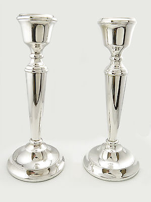 """Pair 8""""Vintage silver weighted candlesticks in excellent condition"""