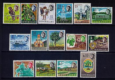 Seychelles Stamps QEII SC # 1-15  Cpl. MH Set Cat.$52
