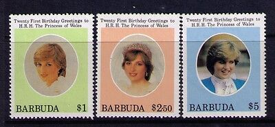 Barbuda Stamps Princess Diana SC #532-34 Cpl MNH Set