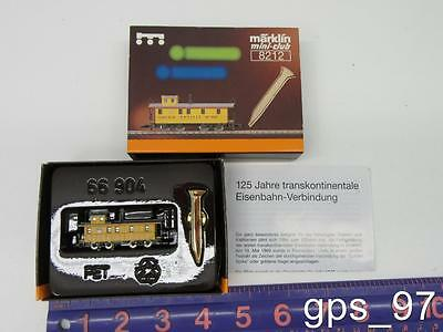 """Z - Marklin 8212 Special Edition Caboose w/ Gold Colored Track Nail """"UP"""" - NIB"""
