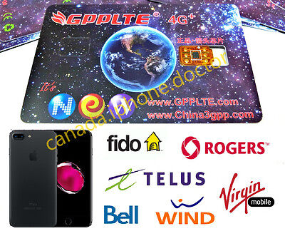 Unlock iPhone ALL Canadian Network Fido/Rogers/Bell/Telus... with 4GLTE