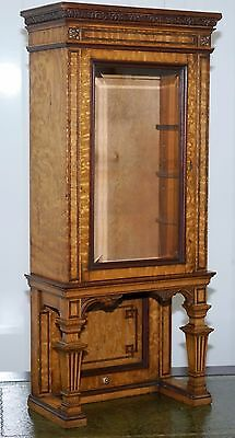 Stunning Victorian Walnut Small Table Top Display Cabinet Rare Find Must See Pic