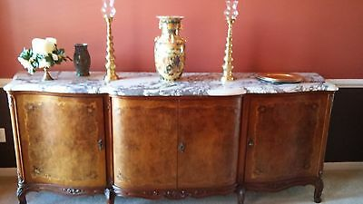 Turn Of The Century French Country, Provincial Buffet W/marble Top!!