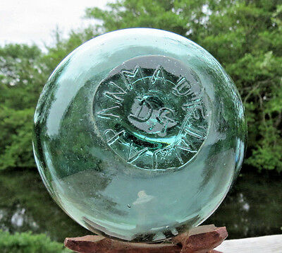 "Japanese Blown Glass FLOAT 4"" WP MARK 340 (134+29) Made in Japan + DG Inclusion"