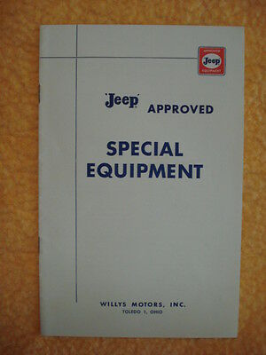 Jeep Approved Special Equipment Brochure/Willys Motors Toledo - 1950's-60's?
