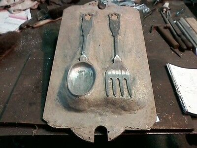 Vintage Foundry Pattern Spoon and Fork