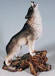 Call of the Grey Wolf Figurine...New, Free Shipping