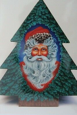 "Susie Wolfe Holiday tole painting pattern ""Santa's Christmas Tree"""