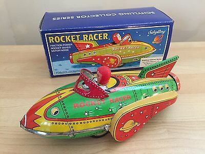 Schylling Collector Series tin RocketRacer. Excellent condition. Friction power.