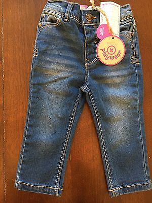 Pumpkin Patch Baby Girl Blue Jeans Size 6-12 Months