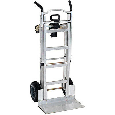Cosco 3-in-1 Aluminum Hand Truck/Assisted Hand Truck/Cart with Flat-Free Wheels