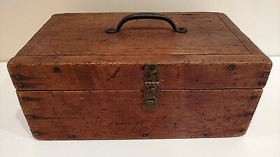 Solid Wood Vintage Tool Box For A Specialty Type Tool