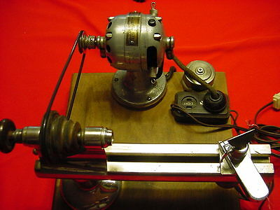 Moseley Watchmaker's - Jeweler's Lathe - Made in USA - With 40+ Moseley Collets